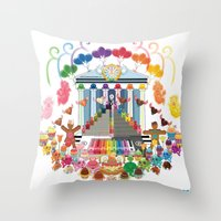 Kawaii Happy New Year 2010  Throw Pillow