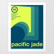 pacific jade single hop Art Print