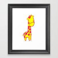 Baby Giraffe Framed Art Print