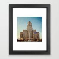 Down Town City Hall Buffalo NY  Color Framed Art Print