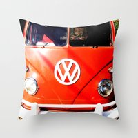 VW California Cruising Throw Pillow