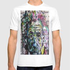 4 langsam 7 SMALL Mens Fitted Tee White