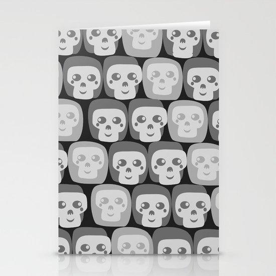 Boo - Skulls Pattern Stationery Card