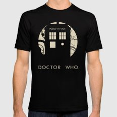Doctor Who Mens Fitted Tee Black SMALL
