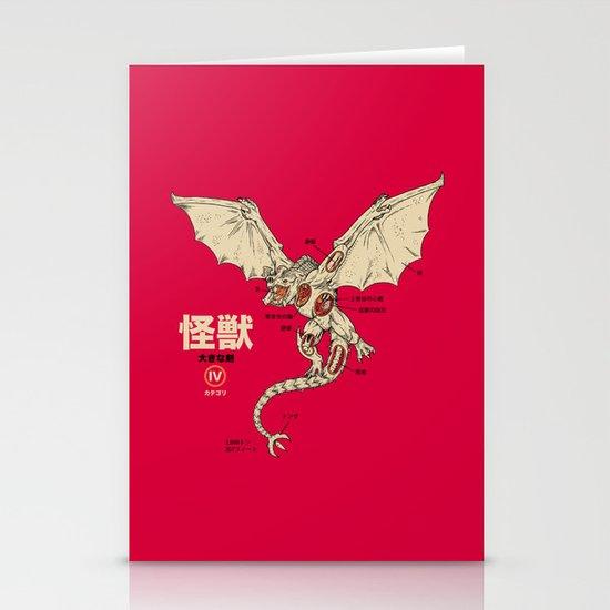 Kaiju Anatomy 2 Stationery Card