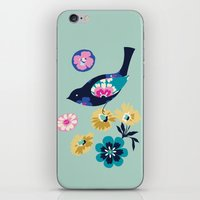Birds And Blooms 4 iPhone & iPod Skin