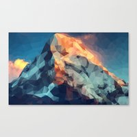 Mountain low poly Canvas Print