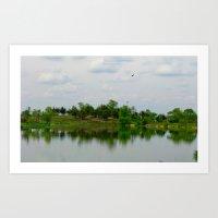 Lake on the Prairie Art Print