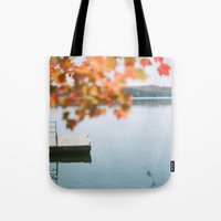 Lake Side View  Tote Bag