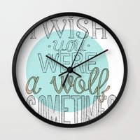 Be a wolf. Wall Clock