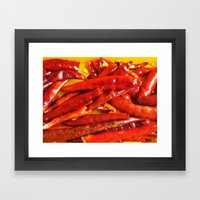 Chili peppers Framed Art Print