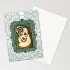 snakes and sunflower girl Stationery Cards