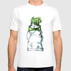 Tube White SMALL Mens Fitted Tee