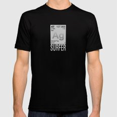 Silver Surfer Mens Fitted Tee SMALL Black