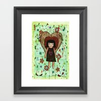 Broken Girl Framed Art Print