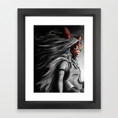 Miyazaki's Mononoke Hime… Framed Art Print
