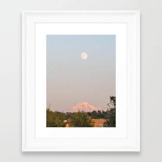 Moon Mountain Framed Art Print
