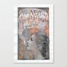 Smoking girl Canvas Print