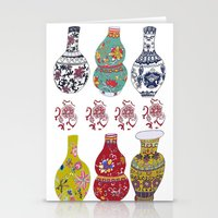 Chinese Pots Stationery Cards