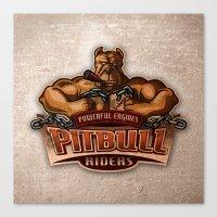 PITBULL RIDERS Canvas Print