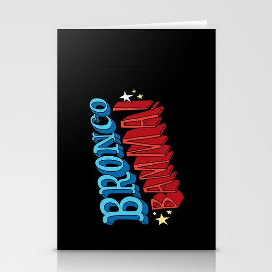 Bronco Bamma! Stationery Card