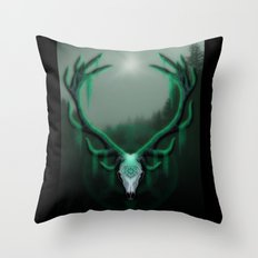 Wild Horns Throw Pillow