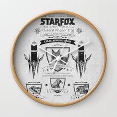 Star Fox Vintage Poster Geek Line Artly Wall Clock
