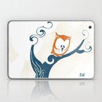 Little Owlet In A Tree Laptop & iPad Skin