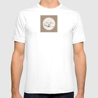 Scots Pine Paper Bag Sepia Mens Fitted Tee White SMALL