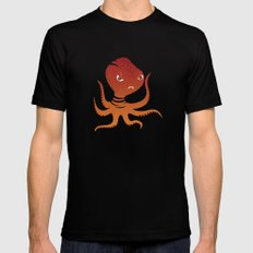 Tiger Squid SMALL Mens Fitted Tee Black