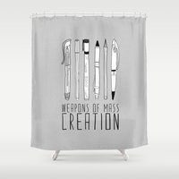 Weapons Of Mass Creation (on grey) Shower Curtain