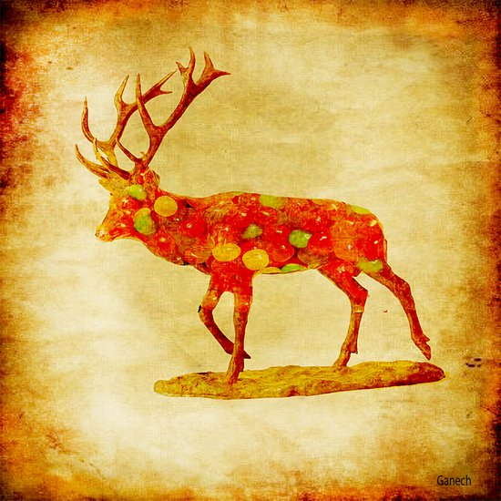 The deer candy Art Print