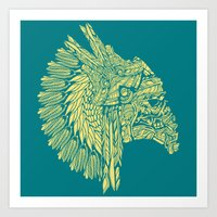 Native American Storm Tr… Art Print