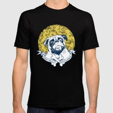 Pug : Small dog, big attitude. Mens Fitted Tee SMALL Black