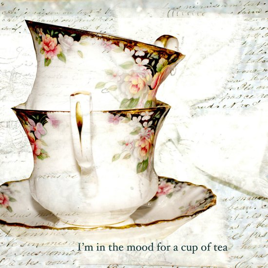 I'm in the mood for a cup of tea Art Print