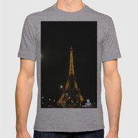tour eiffel Mens Fitted Tee Athletic Grey SMALL