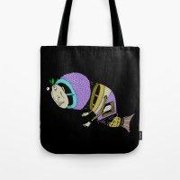 Monsta Fish Tote Bag