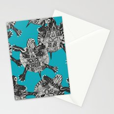turtle party surf blue Stationery Cards