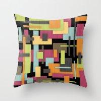 Retrotopia Throw Pillow