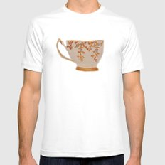 Teacup White SMALL Mens Fitted Tee