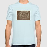 Round 9.. Shane Mosley Mens Fitted Tee Light Blue SMALL