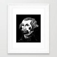 01. Zombie George Washington Framed Art Print