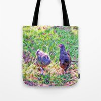 Hens In A Field Tote Bag