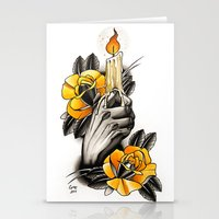 Hand Holding CANDLE - Ta… Stationery Cards