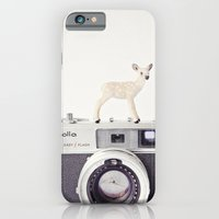 iPhone & iPod Case featuring The Deer and The Minolta by Susannah Tucker