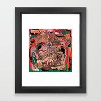 Village Of Forest Framed Art Print
