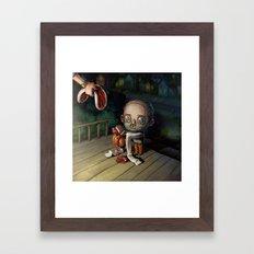 A Treat for Hannibal Framed Art Print