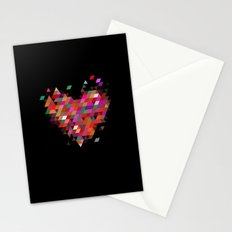 Heart1 Black Stationery Cards