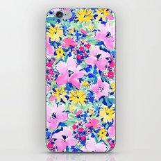 Floreale Blue iPhone & iPod Skin