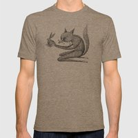 'Offering' - Grey Mens Fitted Tee Tri-Coffee SMALL